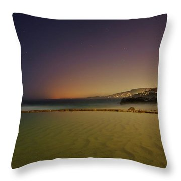Pirate Tower Under Stars Throw Pillow by Matt Helm