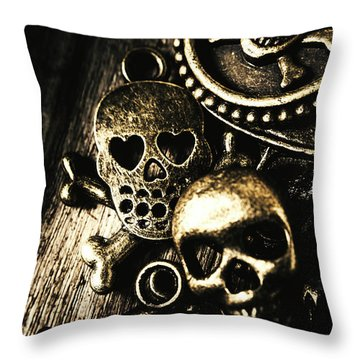 Throw Pillow featuring the photograph Pirate Treasure by Jorgo Photography - Wall Art Gallery