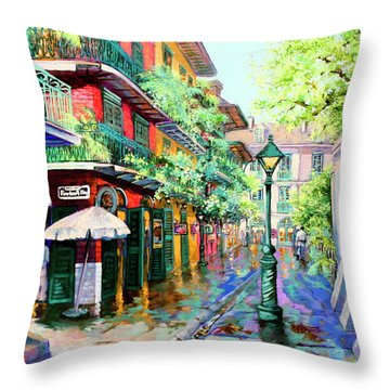 Pirates Alley - French Quarter Alley Throw Pillow