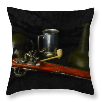 Pirates And Their Vices Throw Pillow by Paul Ward