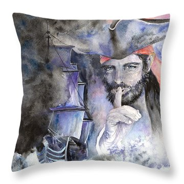 Pirate's Bounty Throw Pillow