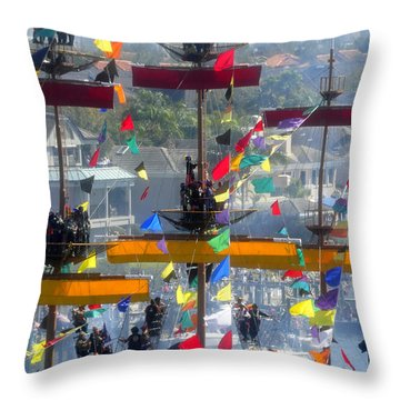 Pirate's In The Rigging Throw Pillow by David Lee Thompson