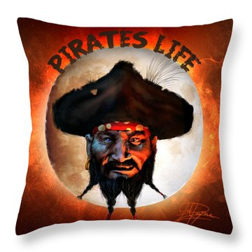 Pirates Life Throw Pillow