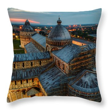 Pisa Cathedral Throw Pillow by Robert Charity