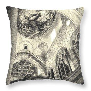 Pisa Duomo Throw Pillow by Norman Bean