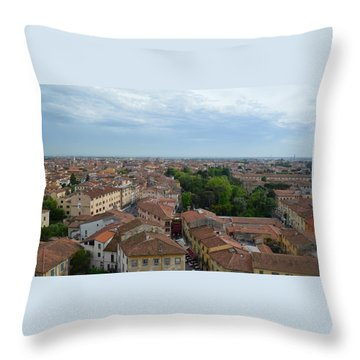 Pisa From Above Throw Pillow