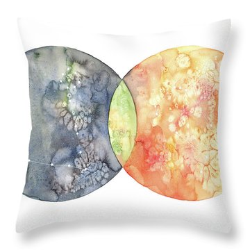 Pisces And Gemini Throw Pillow
