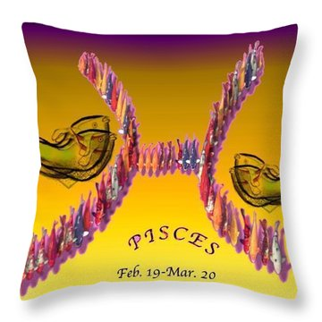 Throw Pillow featuring the painting Pisces by The Art of Alice Terrill