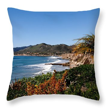 Pismo Beach California Throw Pillow by Susanne Van Hulst