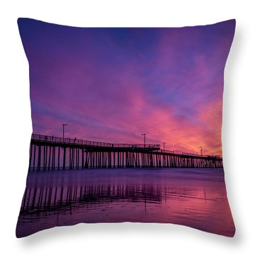 Pismo's Palette Throw Pillow by Sean Foster