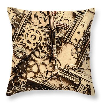 Pistol Parts And Rifle Pinions Throw Pillow