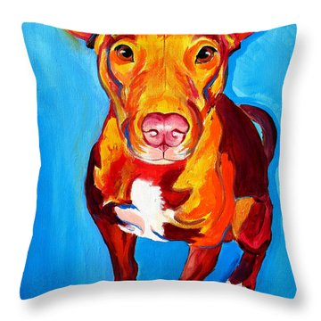 Pit Bull - Chino Throw Pillow by Alicia VanNoy Call