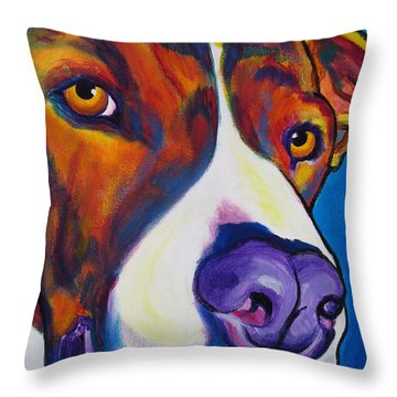 Pit Bull - Eric Throw Pillow by Alicia VanNoy Call