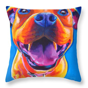 Pit Bull - Lots To Love Throw Pillow