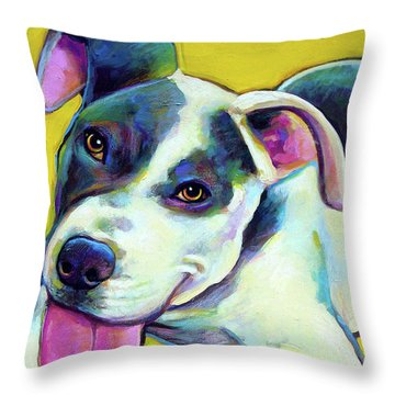 Pit Bull Puppy Throw Pillow