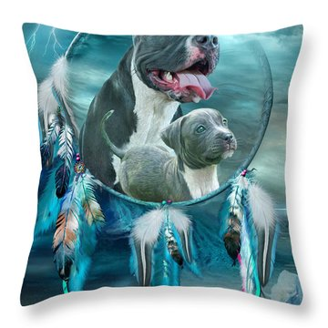 Pit Bulls - Rez Dog Throw Pillow