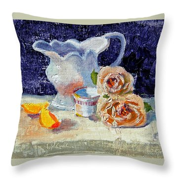 Pitcher Picture Throw Pillow by Laurie Paci