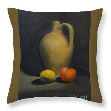 Pitcher This Throw Pillow by Genevieve Brown
