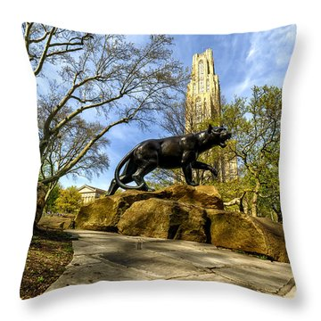 Pitt Panther Cathedral Of Learning Throw Pillow