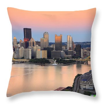 Pittsburgh 16 Throw Pillow