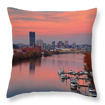 Pittsburgh 31st Street Bridge  Throw Pillow