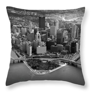 Pittsburgh 8 Throw Pillow by Emmanuel Panagiotakis