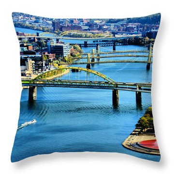 Pittsburgh At The Point Throw Pillow