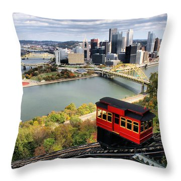 Pittsburgh From Incline Throw Pillow by Michelle Joseph-Long