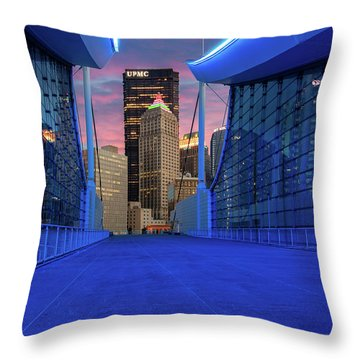 Pittsburgh In Blue  Throw Pillow