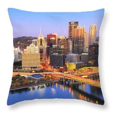 Pittsburgh Pano 22 Throw Pillow