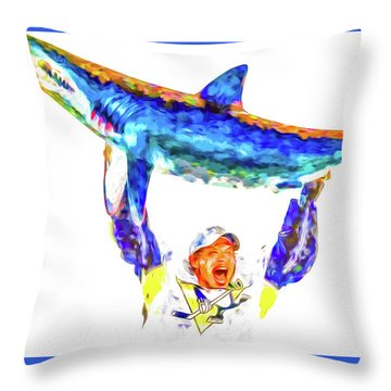 Throw Pillow featuring the photograph Pittsburgh Penguins Nhl Conquer San Jose Sharks by David Haskett