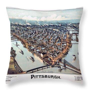 Pittsburgh Pennsylvania 1902 Throw Pillow