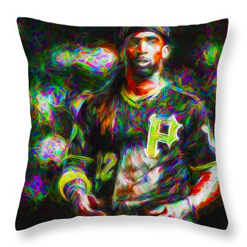 Pittsburgh Pirates Andrew Mccutchen Painted Throw Pillow