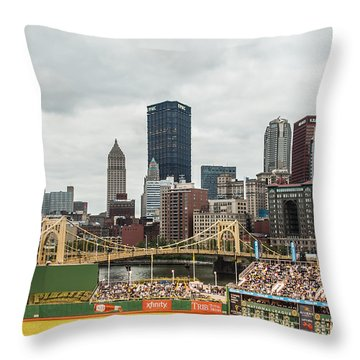 Pittsburgh/pnc Park - 6986 Throw Pillow