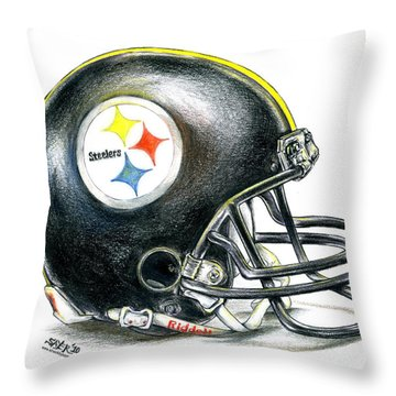 Pittsburgh Steelers Helmet Throw Pillow
