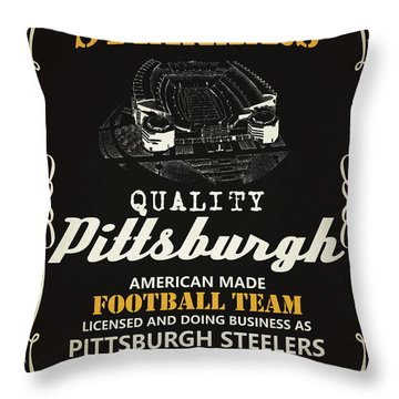Pittsburgh Steelers Whiskey Throw Pillow