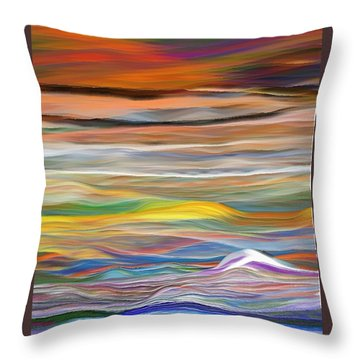 Throw Pillow featuring the digital art Pittura Digital Ghibli1128 by Sheila Mcdonald