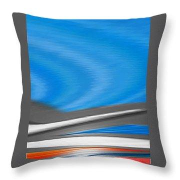 Pittura Digital Throw Pillow by Sheila Mcdonald