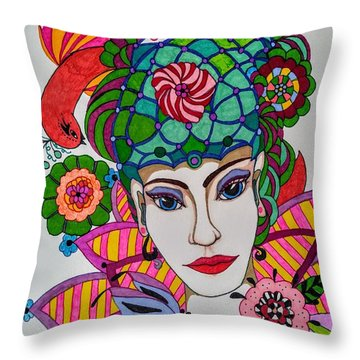 Pixie Girl Throw Pillow