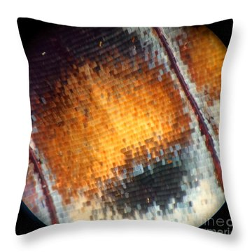 Pixilated Color Throw Pillow by KD Johnson