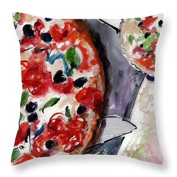 Pizza Diptych Original Italian Food Right Half Throw Pillow