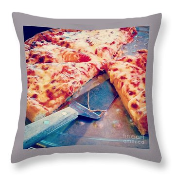 Pizza Throw Pillow by Raymond Earley