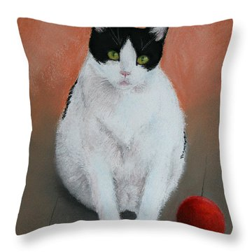 Pj And The Ball Throw Pillow