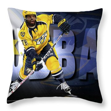 Pk Subban Throw Pillow by Don Olea