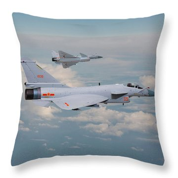 Throw Pillow featuring the photograph Plaaf J10 - Vigorous Dragon by Pat Speirs