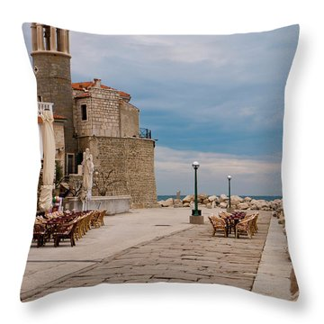 Place By The Sea Throw Pillow by Rae Tucker