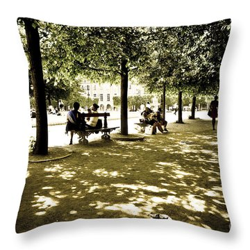 Place De Vosges Throw Pillow by Perry Van Munster
