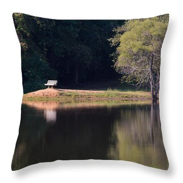 Place Of Reflection Throw Pillow
