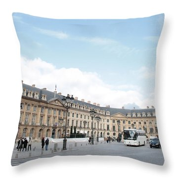 Throw Pillow featuring the photograph Place Vendome by Christopher Kirby
