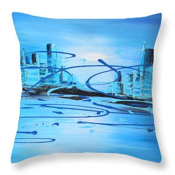 Placed Under The Moon Light Throw Pillow